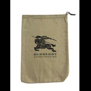 "Burberry Storage Drawstring Dust Bag  14.5"" x 10"""